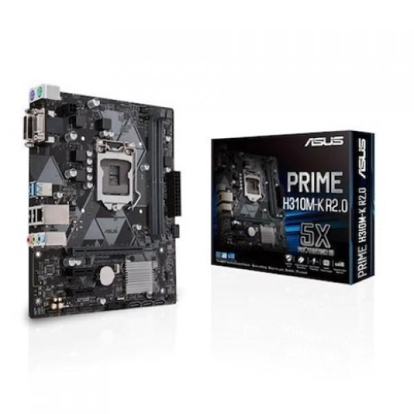 Asus Prime H310M-K R2.0 Intel H310 2666 MHz D...