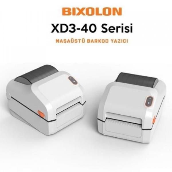 Bixolon XD3-40D Beyaz Direk Termal 203 dpi Us...