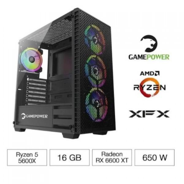 GamePower Destiny R5 5600X 16GB 500GB SSD 8GB RX 6600XT FreeDos Masaüstü Bilgisayar