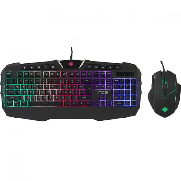 INCA IKG-310 Ruthless Rainbow Efect Gaming Kl...