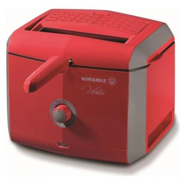 Korkmaz A486-02 Vertex Kırmızı Fritöz