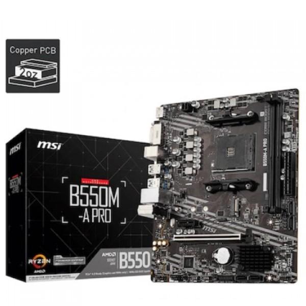 MSI B550M-A PRO AMD B550 4600 MHz DDR4 Soket ...