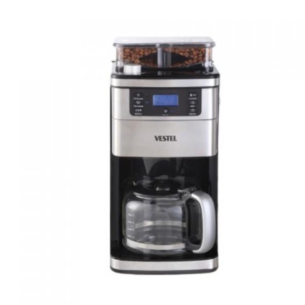 Vestel Taze Öğütücülü Siyah Kahve Makinesi...