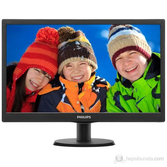"Philips 19,5"" inc 203V5LSB26/62 5Ms Parlak Siyah Analog Led Monitör"